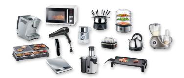 bestel huishoudelijke apparaten